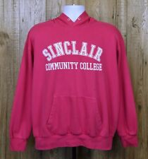 VINTAGE AMERICAN SINCLAIR COMMUNITY COLLEGE HOODIE SIZE USA L PINK MV SPORT TOP