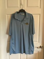 Clique Men's XXX Large Tttg Light Blue Polo Shirt Indy Motor Speedway Emblem -
