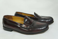 Cole Haan Burgandy Pinch Penny Loafer Mens 8.5 M Italy Casual Shoe