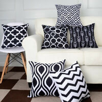 6PCS/Set Linen Cotton Cushion Cover Waist Throw Pillow Case Home Sofa Decor NEW
