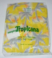 Vintage 90s Tropicana Orange Juice Promotional Hawaii Shirt Size M ~NOS
