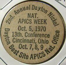 1970 National APICS Week Cincinnati, OH Wooden Nickel - Token Ohio