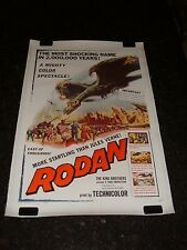 RODAN! THE FLYING MONSTER Original Movie Poster, C8.5 Very Fine to Near Mint