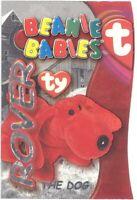 TY Beanie Babies BBOC Card - Series 3 Beanie/Buddy Left (SILVER) - ROVER the Dog