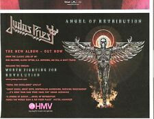 JUDAS PRIEST Angel Of Retribution UK magazine ADVERT / Poster 8x6 inches