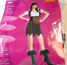 Seven Seas Vixen Pirate Adult Costume Dress 12-14 NIP