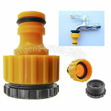 "1/2""& 3/4"" Plastic Water Hose Pipe Tube Fitting Tap Connector Adaptor Garden"