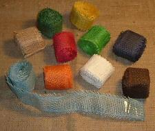 Jutestoff Wickelband farbig  4cm breit, 3m lang