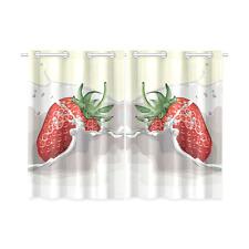 Splashing Strawberry Kitchen Curtain 26X39 Inches (Two Piece) Window Curtains