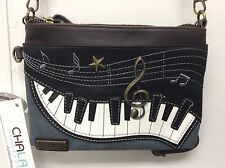 Chala Mini Crossbody Bag Small Convertible Purse Piano Music Indigo Blue New