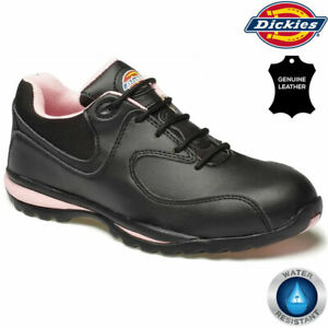 Dickies Ladies Leather Safety Boots Steel Toe Cap Work Shoes Trainer Ankle Hiker