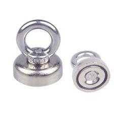 25mm x 30mm 14Kg Salvage N52 Strong Neodymium Eyebolt Circular Ring Magnet