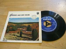 """7"""" Single Walter Hauk  Grüsse aus der Heide Bariton Vinyl Philips 423 208"""