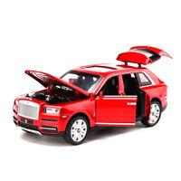 1:32 Rolls-Royce Cullinan Alloy Simulation Car Model Sound Light Toy 7 Open Door
