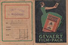 PORTA NEGATIVI FOTOGRAFICI GEVAERT FILM-PACK ANNI '30 9-47