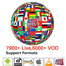 IP TV Subscription 12 Months Smarters Pro Smart TV Android Box M