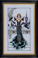 The Raven Queen - Mirabilia Designs/Nora Corbett chose chart/embellishments
