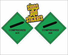 Compressed Air -  Double Pack Hazard Warning Diamonds