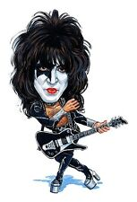 """Kiss - Paul Stanley """"The Starchild"""" Caricature 80's Hair Metal Sticker or Magnet"""