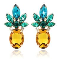 Pineapple Earrings For Women Jewelry Hawaiian Vacation Beach Party Daily Wi B2S4