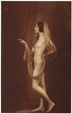 1920s Vintage Italian Female Nude Model Hoppe Art Deco Photo Gravure Print