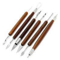6pcs DIY Polymer Clay Pottery Ceramics Sculpting Carving Tools Craft Kits New !