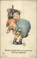 Charles Twelvetrees Little Girl Holding Crying Baby Brother c1915 Postcard