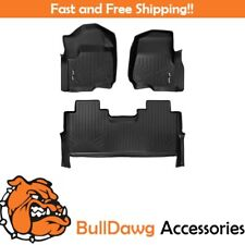 SMARTLINER Floor Mat for F-250 F-350 F250 F350 SuperCrew Cab 2 Row Set Black