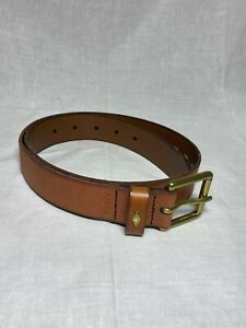 Fossil Women's Leather Belt, Brown/Gold Small New with Tags #59