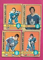 1972-73 OPC TORONTO MAPLE LEAFS  CARD LOT (INV# C3635)