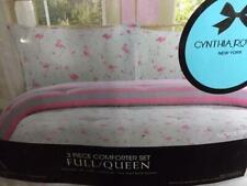 3-Pc Cynthia Rowley Flamingo Ballerinas Stripes Full/Queen Comforter Shams NIP