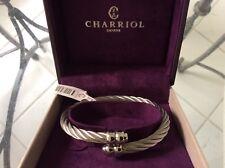 Charriol Phillip Celtic Design double Gadrons Steel Bracelet/Bangle Mens Newbox