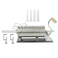 6LBS Sausage Stuffer Homemade Stainless Steel+4 Stuffer Tubes+2 Clamps MF-2006P