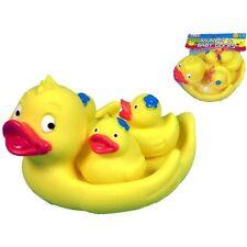 Momia y dos Bebé Patos Juguete De Baño Juguete squeeky Patos Niños Kids Nueva 62193