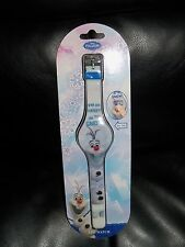 Disney Frozen Olaf LED Watch with Flashing Time NEW HARD TO FIND HTF