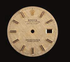 Real Rolex Datejust Champagne Linen Dial Part-Black/Gold Hour Sticks-16013,16233