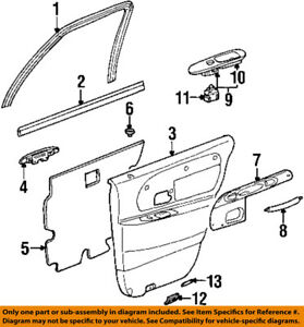 Lincoln FORD OEM 98-02 Town Car Interior-Rear Door-Pull Handle F8VZ5422666DAB