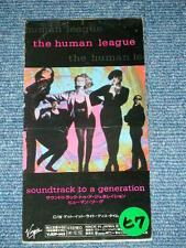"HUMAN LEAGUE Japan Only 1990 Tall 3"" CD SOUNDTRACK TO A GENERATION"