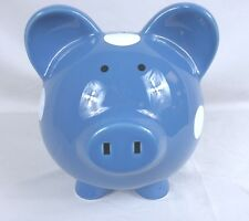 The Company Store Dark Blue Polka Dot Piggy Bank 78088 1027HDKCZ