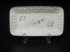 Pfaltzgraff Stoneware, Green Holly, Red & White Berries  Winterberry BREAD TRAY