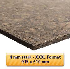 4 mm Kork Platte 915x610 mm Pinnwand Wand Decke Boden Dämmung Korkplatte