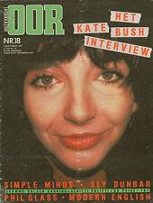 MAGAZINE OOR 1982 nr. 18 - KATE BUSH / PHILIP GLASS / DAVID LINDLEY/SIMPLE MINDS