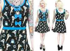 130035 Black & Blue Derby Darling Dress Sourpuss S Small Roller Skates Retro