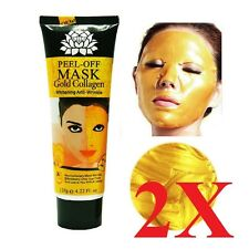 2x Gold Collagen Facial Face Mask High Moisture Anti Aging Remove Wrinkle Care!