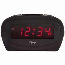 "30228 Equity by La Crosse Electric 0.6"" Red Led Display Digital Alarm Clock"