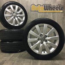 4 17 Genuine Audi A4 multi spoke Alloy Wheels & tyres Sport S Line SE 245 45