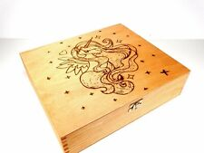 Handmade PONY Unicorn,Kids , Girls XL decorative engraved wooden trinket box #23