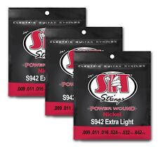 SIT Strings S942 Extra Light Power Wound Nickel Electric 9-42 (3-PACK)