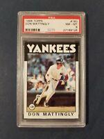 1986 Topps #180 DON MATTINGLY Yankees PSA 8 NM - MT ~Centered~