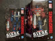 Transformers War for Cybertron Siege Voyager Optimus Prime & Cog